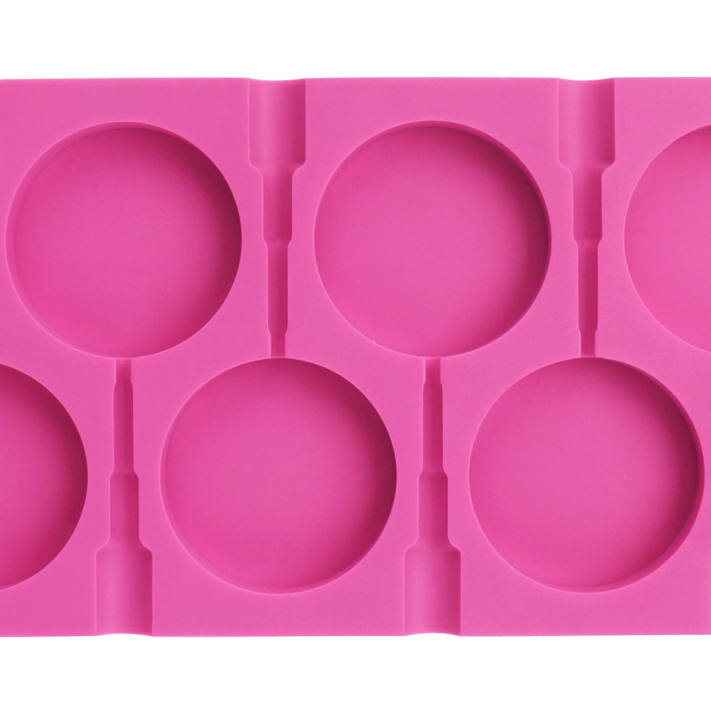 Beasea 6 Cavity Round Lollipop Mold
