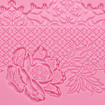 Cake Lace Mold, Beasea 5pcs Lace Fondant Molds Silicone Lace Molds for Cake Decorating Lace Mat Flower Pattern Molds Sugar Craft Tools - Pink
