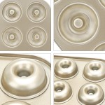 Donut Pan Set of 2, Beasea Nonstick Donut Baking Pans, Carbon Steel Donut Mold, Donut Baking Tray Bagels Mold for 6 Donuts