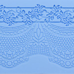 Lace Fondant Molds Silicone, Beasea 5pcs Cake Lace Molds for Cake Decorating Lace Mat Flower Pattern Molds Sugar Craft Tools - Blue