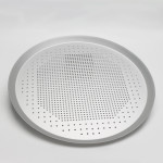 Pizza Pan with Holes, Beasea 14 Inch Aluminum Alloy Round Pizza Tray Pizza Crisper Pan Pizza Baking Tray Bakeware for Home Restaurant Kitchen