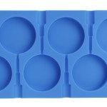 6 Cavity Round Lollipop Mold,Hard Candy Molds DIY Lollipop Silicone Cake Chocolate Molds Fondant Ice Ball and Handmade Soap Maker Kitchen Tray Blue with 50 Lollipop Sticks
