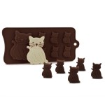 Beasea 3pcs Set of DIY 7-Cavity Silicone Molds Candy Making Chocolate Mold Cat Shape Silicone Mold for Fondant Ice Jello Cake Decoration Baking Tools