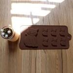 Beasea 3pcs Set of DIY 7-Cavity Silicone Molds Candy Making Chocolate Mold Cat Shape Silicone Mold for Fondant Ice Jello Cake Decoration Baking Tools