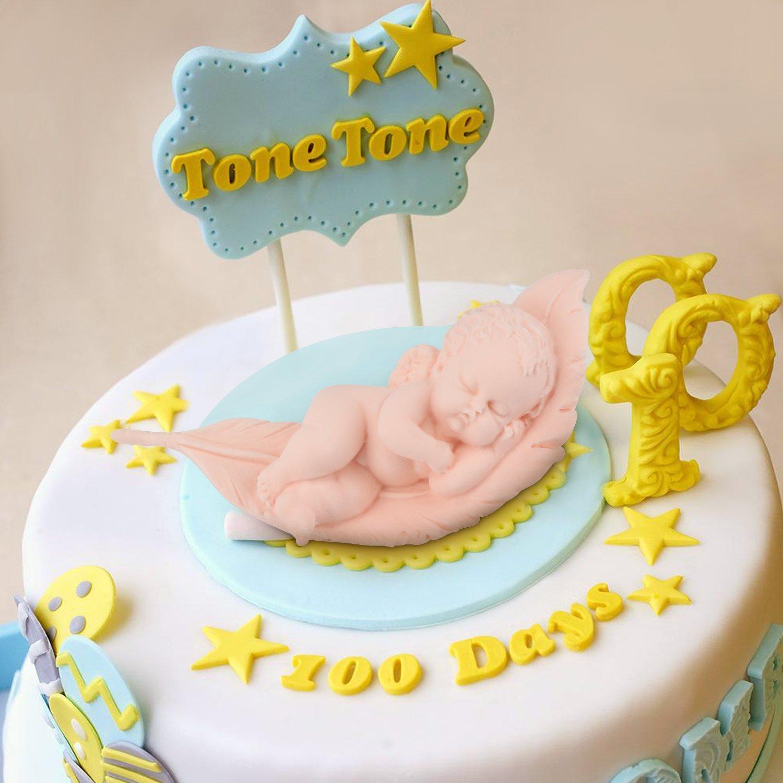 Beasea Silicone Fondant Mold Angel Baby Cake Decoration Molds Cute