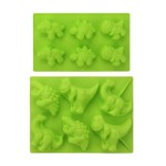 Beasea (2 Pack) Silicone Dinosaur Molds 3D Cake Mold Perfect for Dinosaur Gummies, Chocolates, Ice Cube Cake Decorations Baking Tools